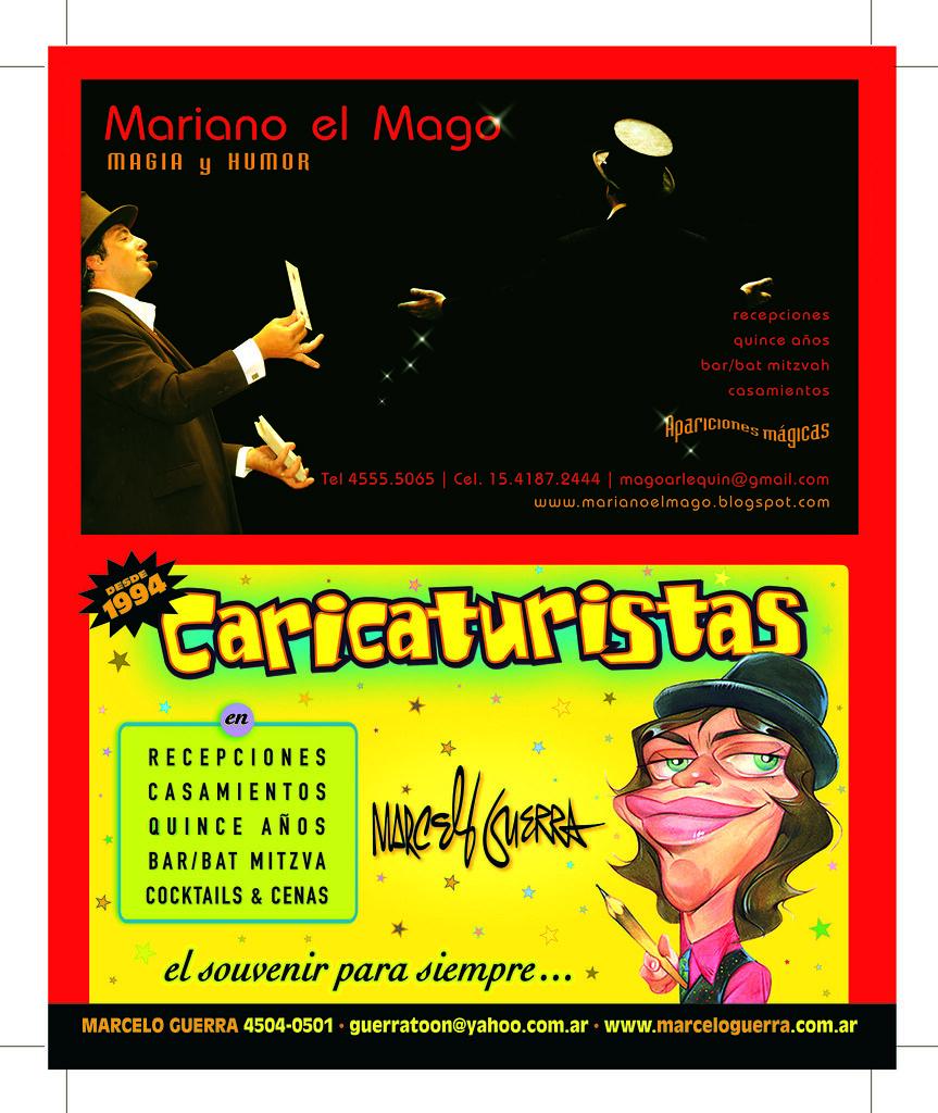 www.marceloguerra.com.ar / caricaturas en fiestas / mago