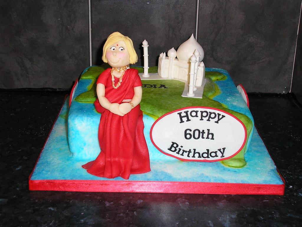 Cool Taj Mahal India 60Th Birthday Cake For Lady Going To India Funny Birthday Cards Online Elaedamsfinfo