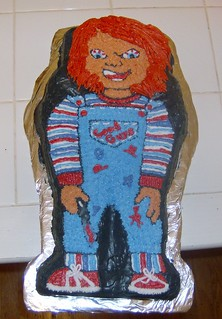Superb Chucky Cake This Cake Will Hurl You Out Of A 15 Story Buil Flickr Funny Birthday Cards Online Sheoxdamsfinfo