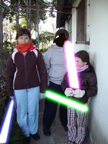 Yo y mis primos Jedis en el salón de entrenamiento (x'D)