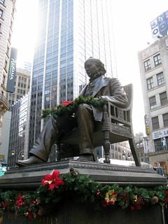 Statue of Horace Greeley   by Elizabeth Thomsen