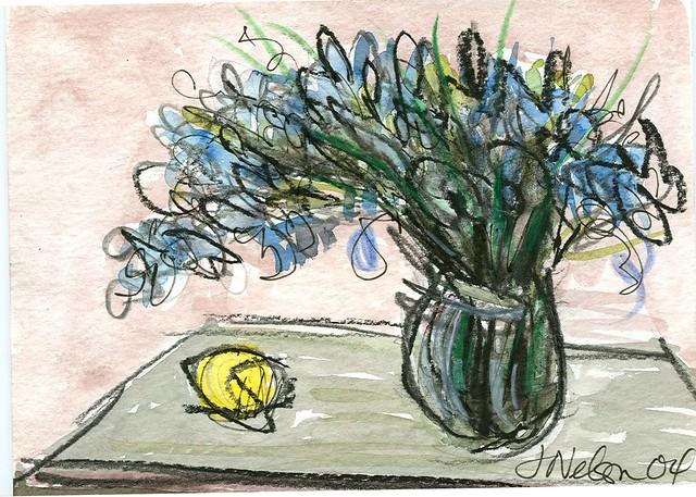 Flowers & lemon