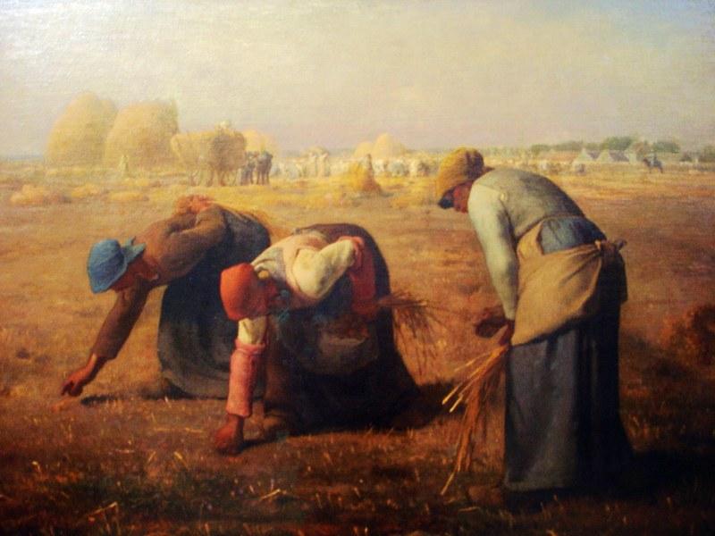 拾穗/Millet | 拾穗。米勒(Jean – Fransois Millet)。1857年。是描绘 ...