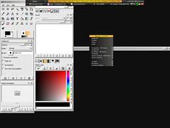 Captura de pantalla con bb4win mostrando el toolbar y le menú