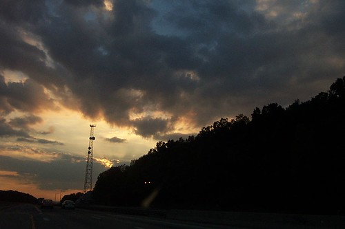 sunset ohio i80 road cars geotagged geolat41323588 geolon82569809