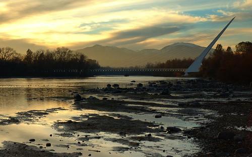 california bridge sunset topv111 river sundial calatrava sacramento redding sacramentoriver sundialbridge