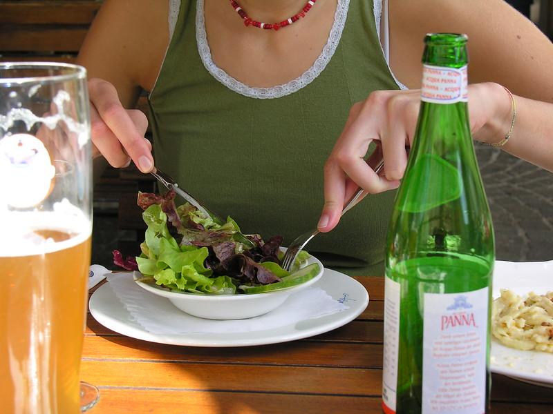 Germany - Garmisch - Eating Salad