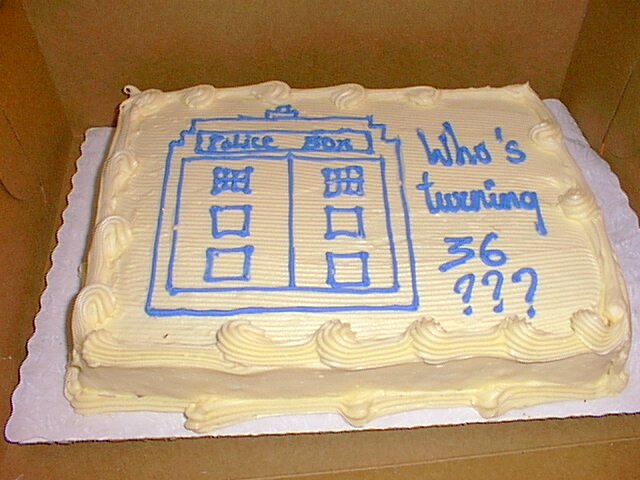 Surprising Doctor Who Birthday Cake Taken At A November 23 1999 Do Flickr Funny Birthday Cards Online Alyptdamsfinfo