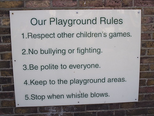 School Playground Rules | by jem
