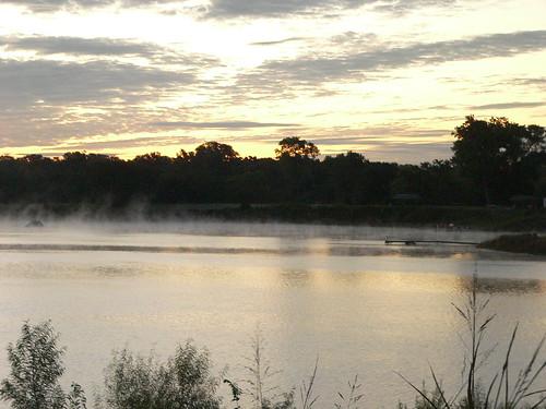 oklahoma lake mist morning ilovenature geolat355239 geolon973884 geotagged