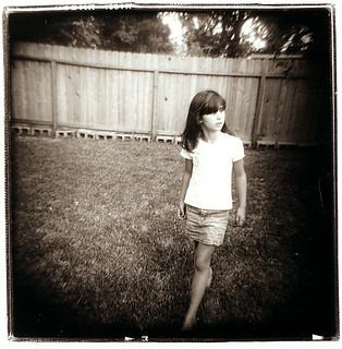 maddie walks the back yard | by Laura Burlton - www.lauraburlton.com