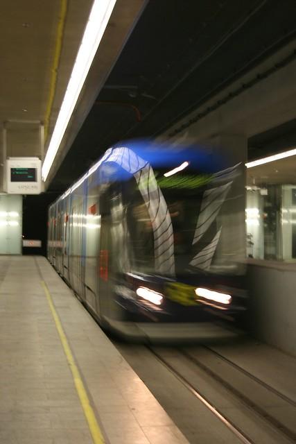 tramway rushing in