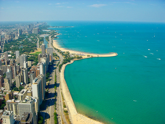 Chicago - View of the city to the norh