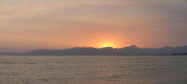 Mallorca sunset panorama