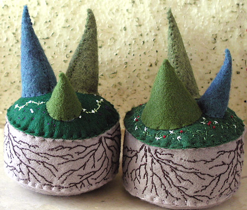 middle earth pincushions | by Bella Dia