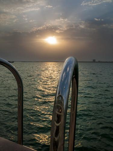 sunset sea beach al gulf abu dhabi raha