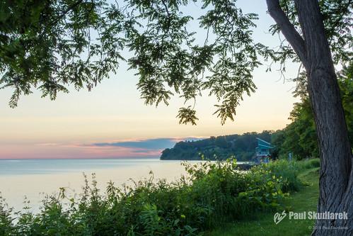 lake tree sunrise rochester shore lakeontario hdr westernnewyork westernny