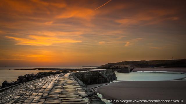 Sunrise at Cullercoats Bay