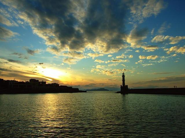 Chania sunset
