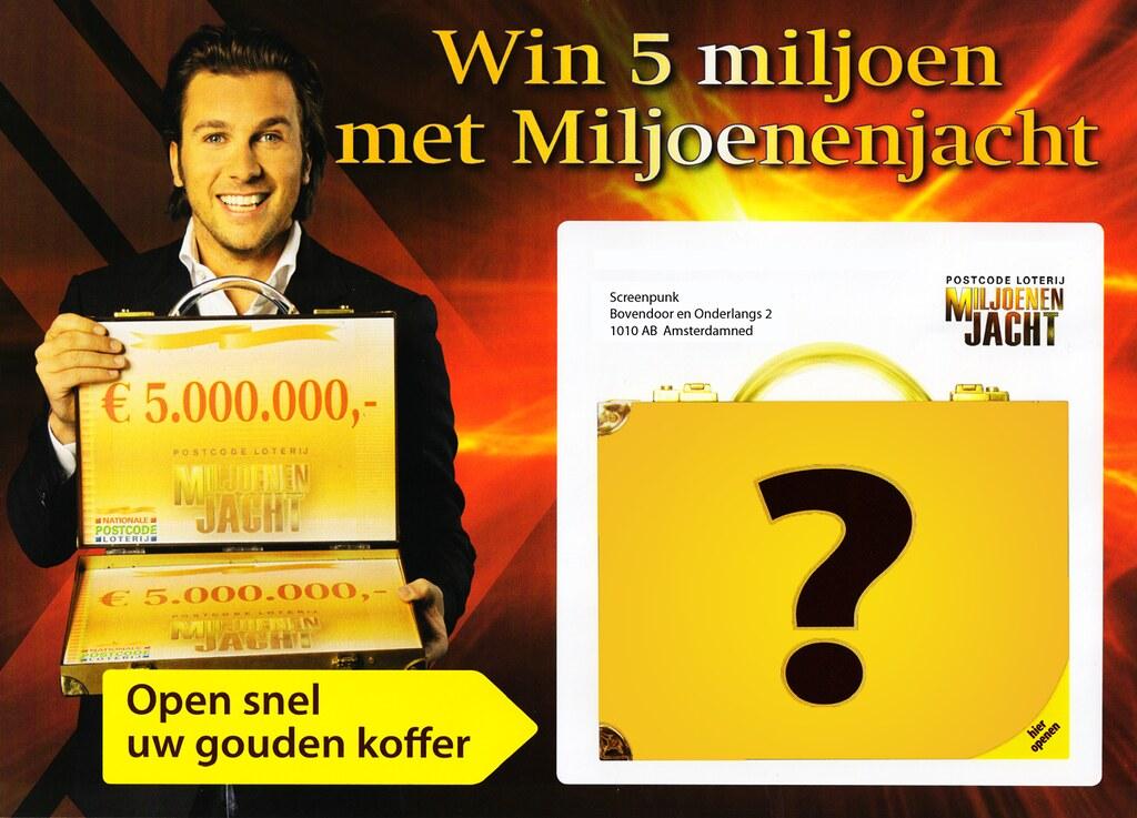 Miljoenenjacht - De Postcode Loterij gaat weer eens los. Hun… - Flickr
