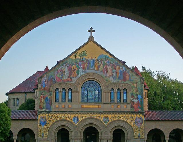 Stanford Memorial Church Thru The Arch