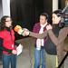Xov, 20/11/2008 - 13:45 - A responsable da organización da Galiciencia, Noemia Ortega, fai declaracións aos medios antes da clausura a feira co acto de entrega dos premios aos mellores proxectos. Galiciencia. 20 de novembro de 2008.