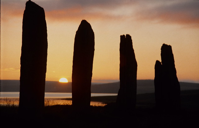 Loch of Stenness,  Ring of Brodgar Sunset,  Orkney,  Scotland