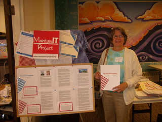 Kathy Holman from the Forsyth Township Library, Gwinn, MI with her Cookbook