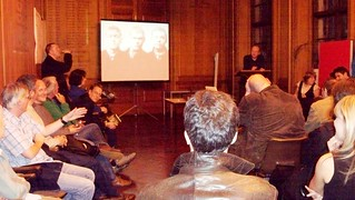 Andrew's talk was complemented by Paul's photo montage featuring the book's pictures of 19th century gangsters
