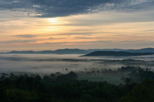 morning cloud sun mountain tree fog sunrise canon eos rebel 50mm low ridge valley interstate charlottesville overlook wisp aftonmountain patchy batesville xti mywinners