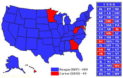 1980 Electoral Map | This is a blow out. | The Posts | Flickr