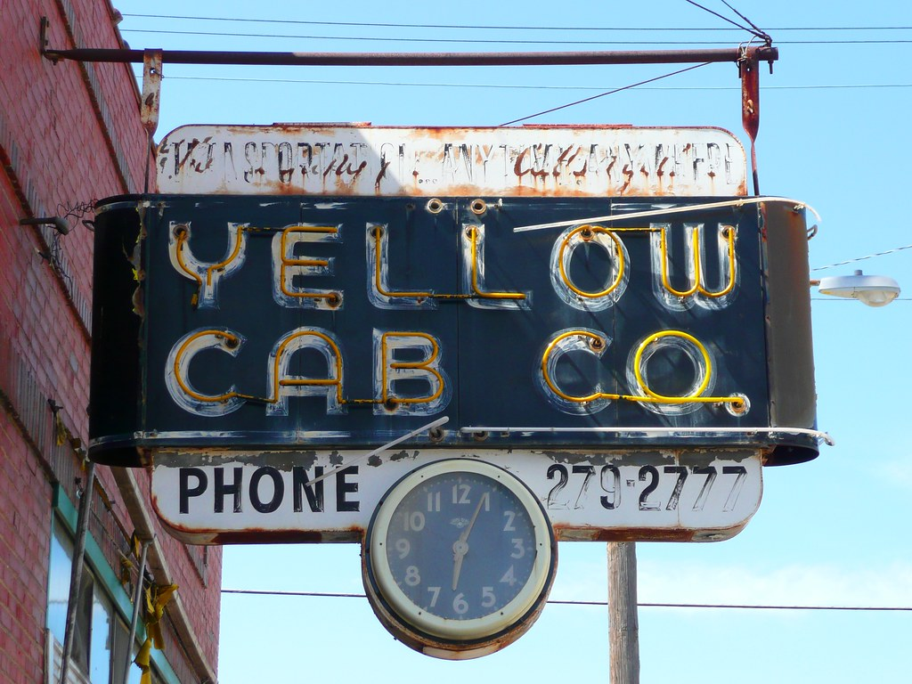 St Joseph, MO Yellow Cab Co  neon sign | I don't think that