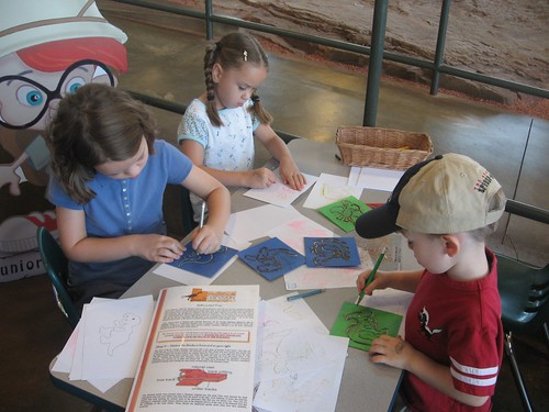 Tracing dinosaurs at the tracks museum. | by mrklaw