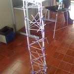 Estructura con popotes y plastilina