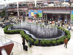 Fountain in the Jeppesen Terminal of Denver International Airport (DIA)   by always movin