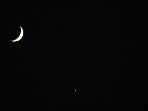 The Moon and Two Planets