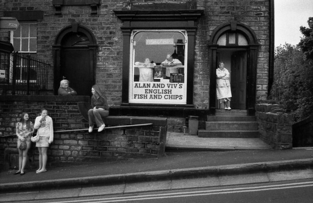 Alan & Viv's Chip Shop, Mossley, Whit Friday