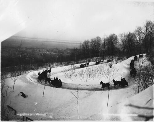 Tandem drive, Montreal, QC, 1889