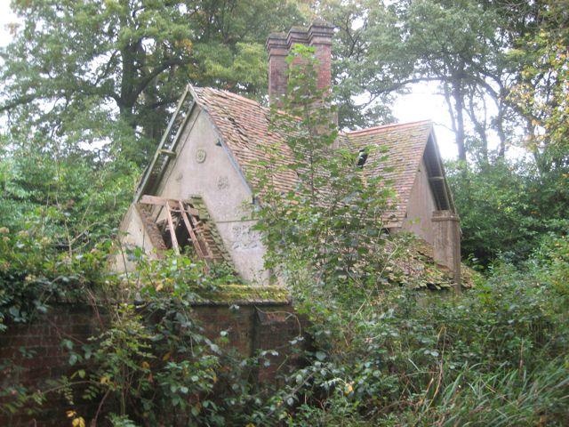 dilapidated lodge