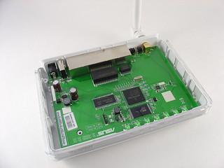 Asus WL-520GU Wireless Router | Inside  mightyohm com/blog/2