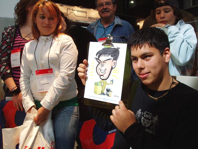 www.marceloguerra.com.ar / CARICATURISTA EN FIESTAS / caricaturas en eventos