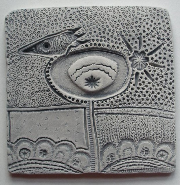 new work ~ small clay tile