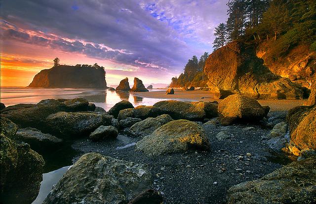 Ruby Beach Aglow