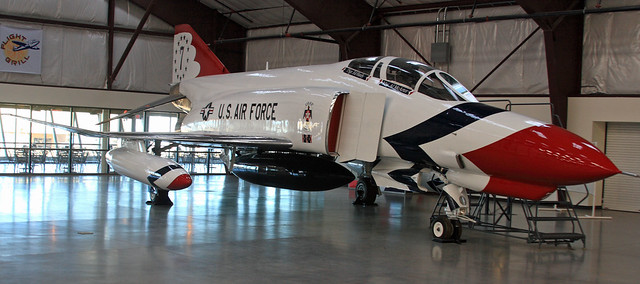 F4 Phantom in USAF Thunderbird colors