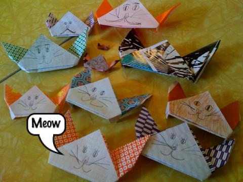 Origami de gato