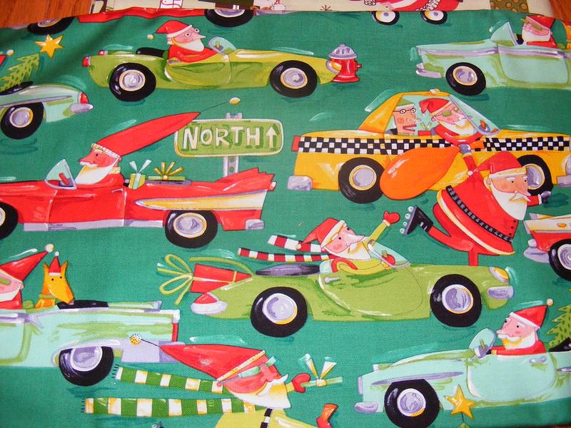 Christmas Santa Fabric