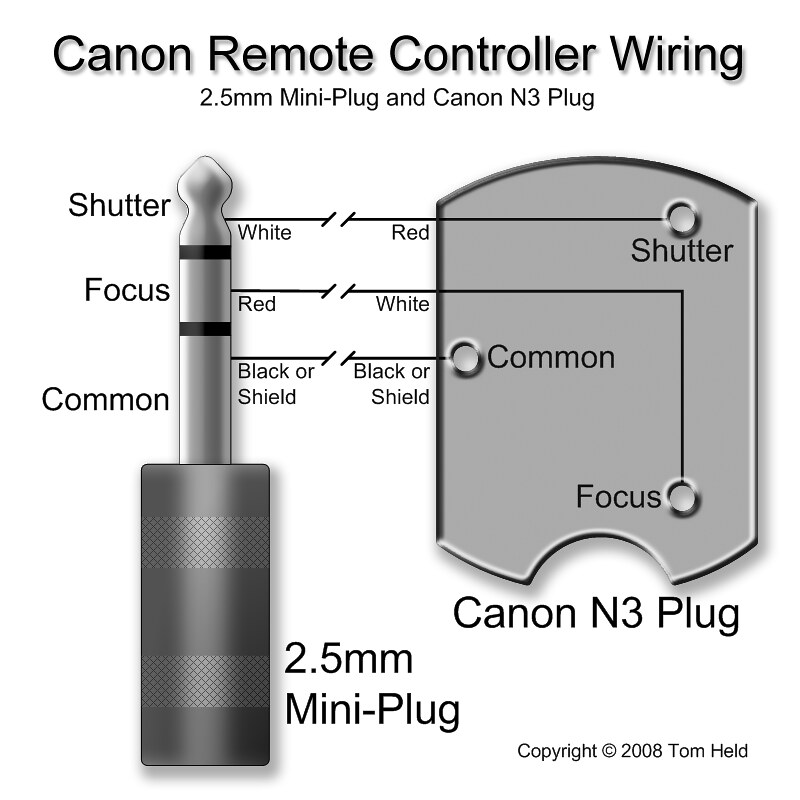 Canon Remote Controller Wiring (2.5mm mini-plug and N3 plu… | FlickrFlickr