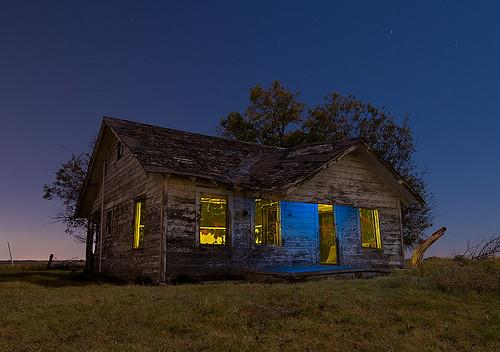 abandoned night farmhouse texas parker