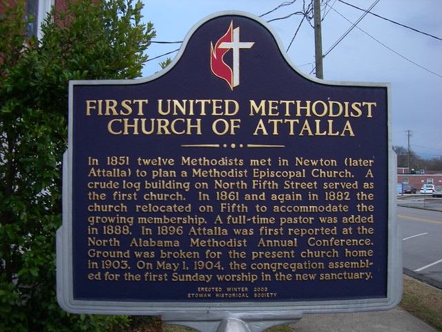 1st United Methodist Church-Attalla Marker