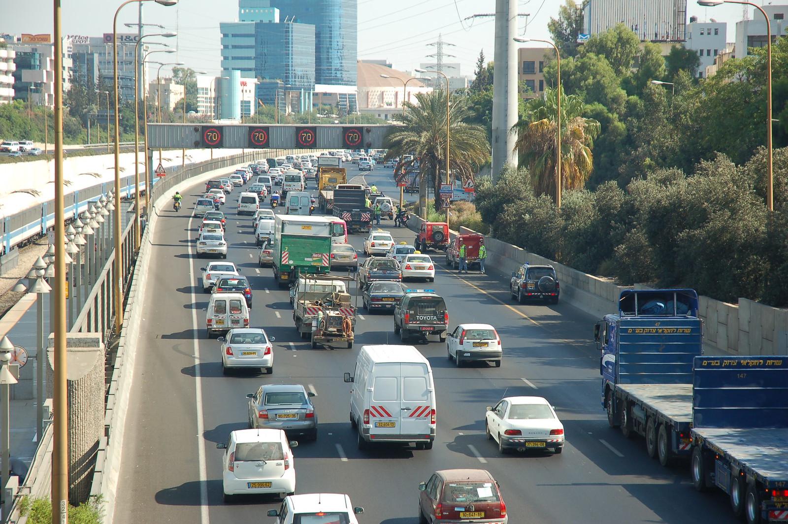 Protesting Fuel Prices in Tel Aviv Israel